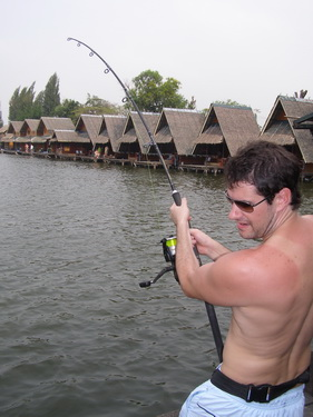 Catfish fishing in Bangkok
