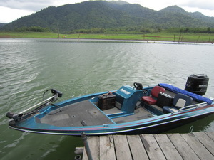 Fishing in Thailand from The 'Fish Thailand Explorer' bass boat