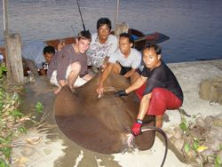 Mae Klong River fishing in Thailand
