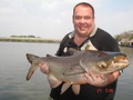 Mark Hoye enjoying fishing in Thailand with The Fish Thailand Team