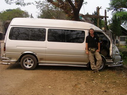 Fish Thailand's private minivan at unbeatable rates